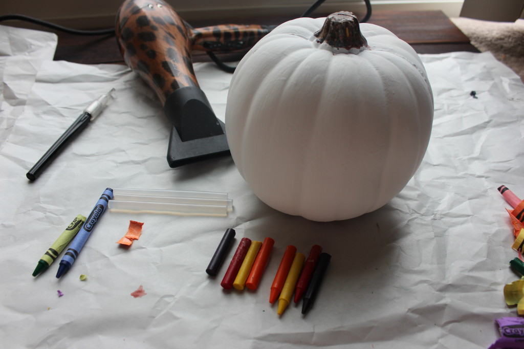Crayon Melt Pumpkin Craft