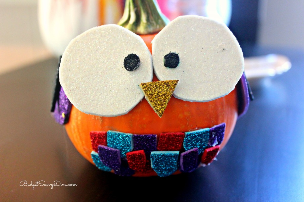 How to Make an Owl Pumpkin