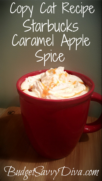 Copy Cat Recipe - Starbucks Caramel Apple Spice