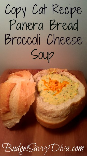 Copy cat Recipe - Panera Bread Broccoli Cheese Soup