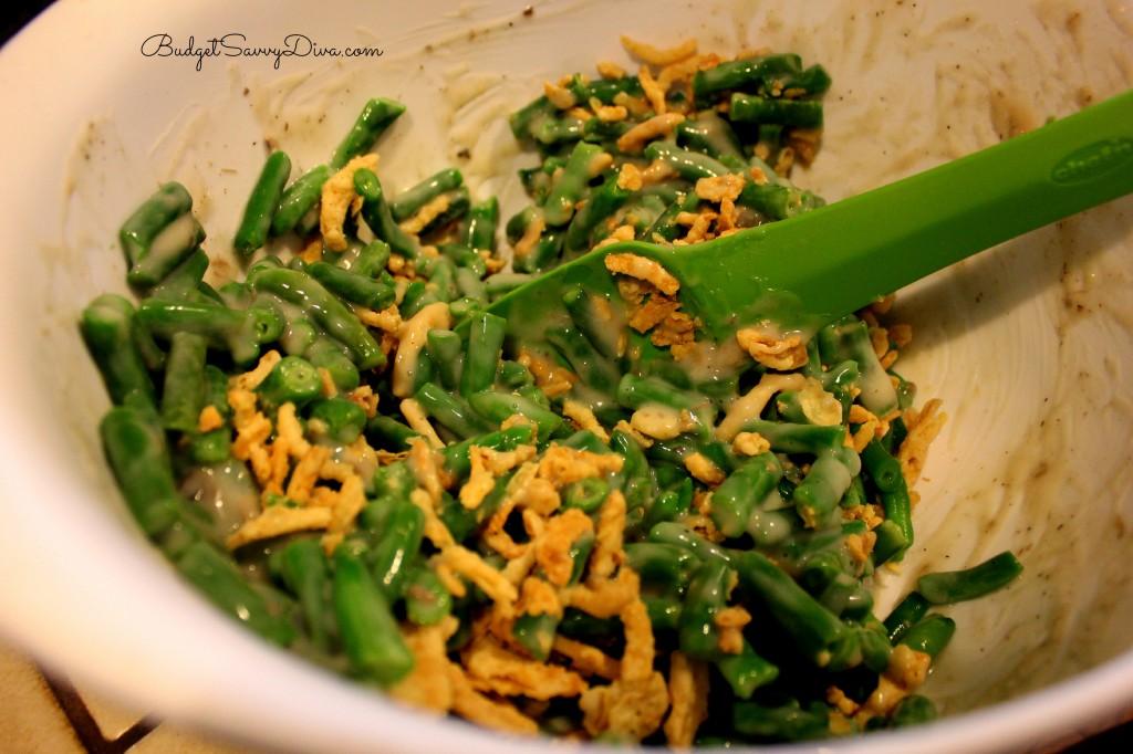 Green Bean Casserole with Bacon Recipe  - Budget Savvy Diva