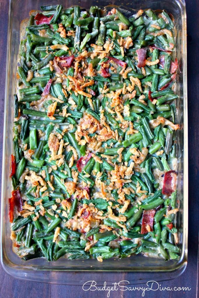 Green Bean Casserole with Bacon Recipe