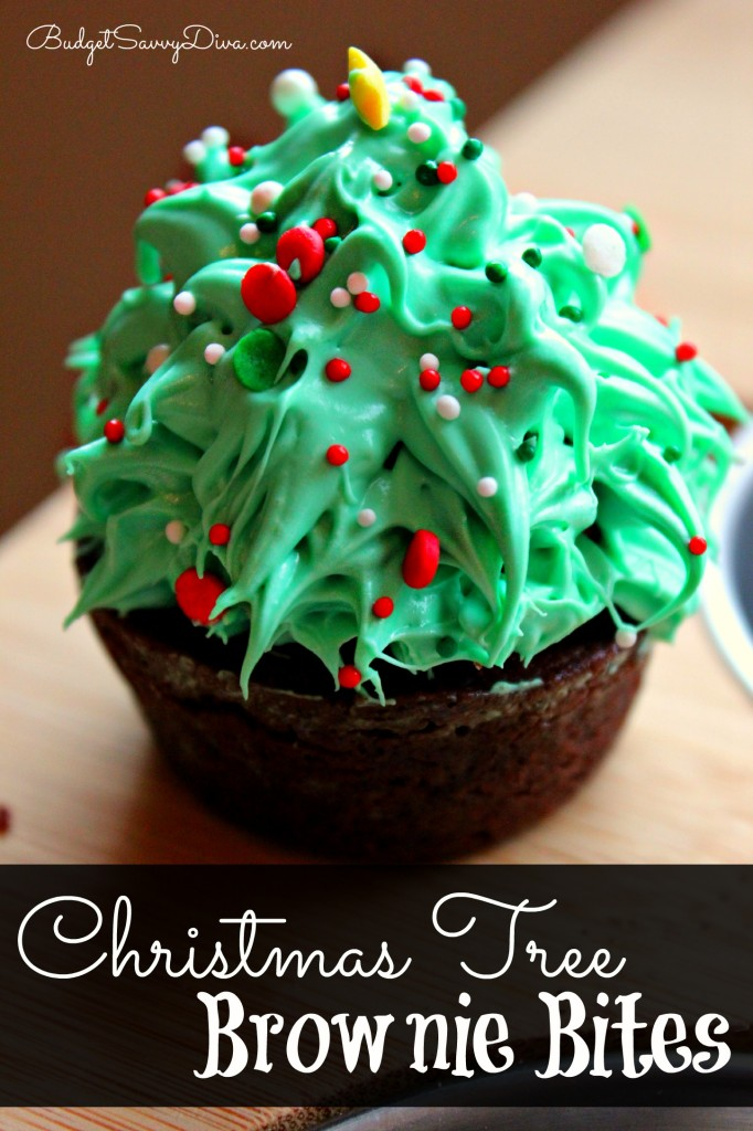 Christmas Tree Brownie Bites Recipe