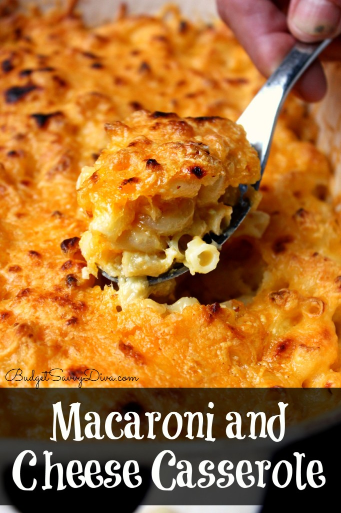 Macaroni and Cheese Casserole by Budget Savvy Diva