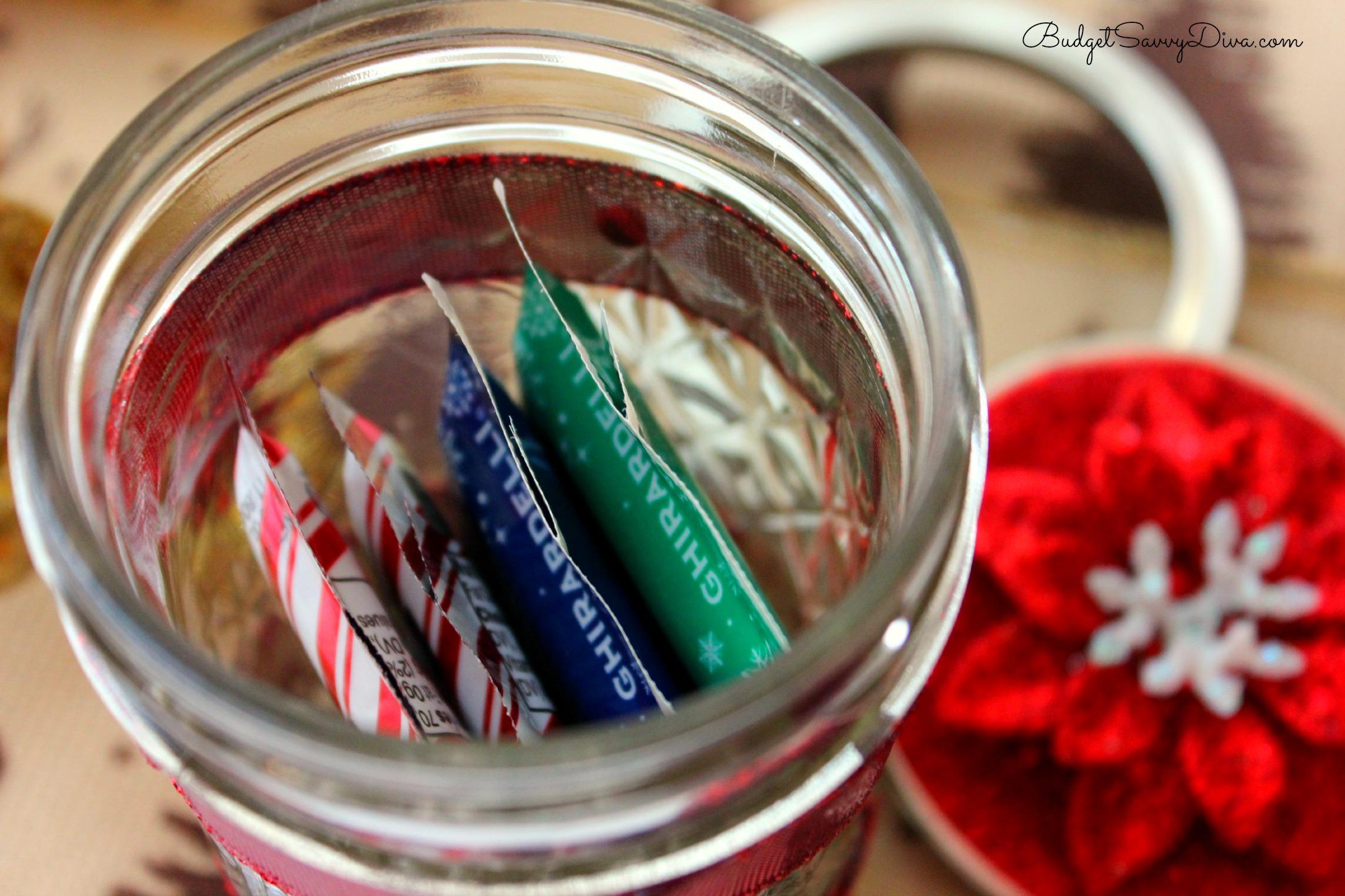 Mason Jar Christmas Candy Holder Budget Savvy Diva