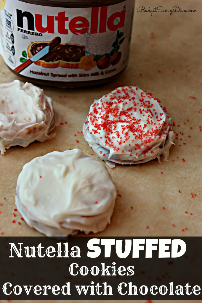 Nutella Stuffed Cookies Covered With Chocolate