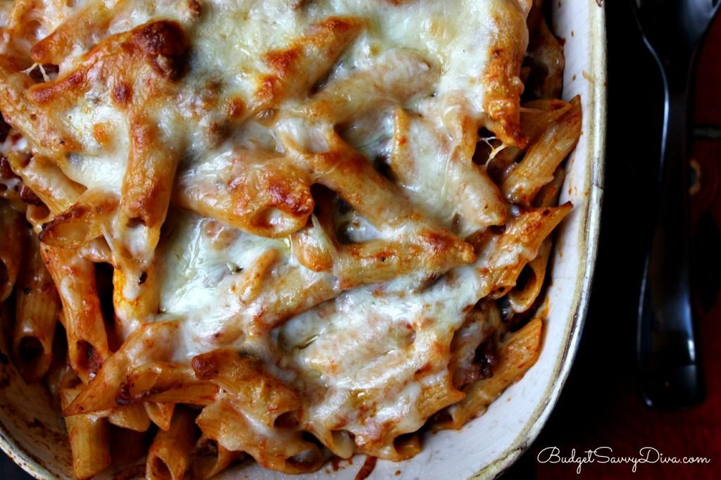 Cheesy Baked Ziti Recipe , italian food