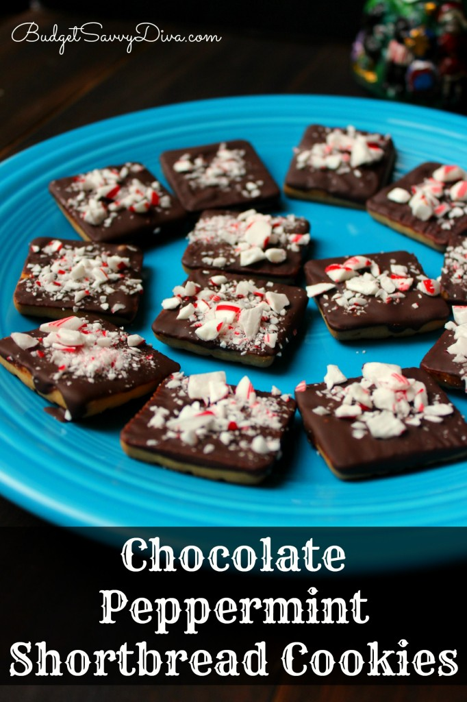 Chocolate Peppermint Shortbread Cookies Recipe