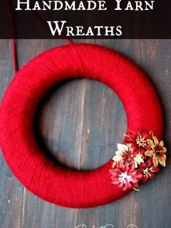 Handmade Yarn Wreaths