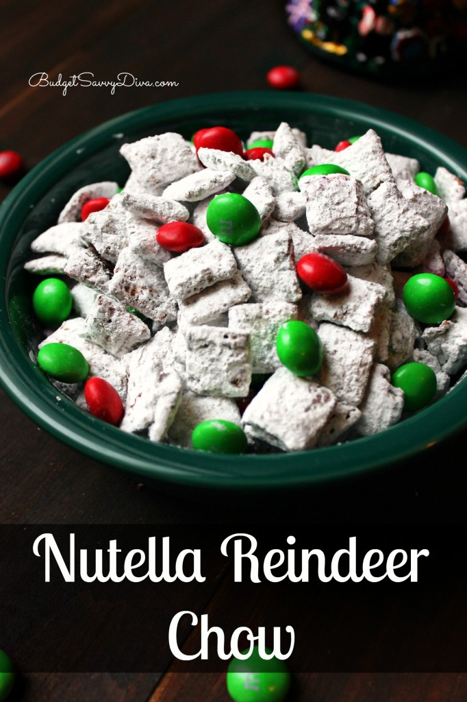 Nutella Reindeer Chow Recipe