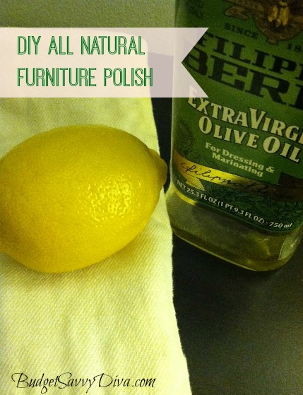 Diy all natural furniture polish budget savvy diva for Homemade organic furniture polish