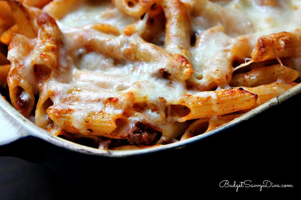 Cheesy Baked Ziti Recipe, gluten free baked ziti