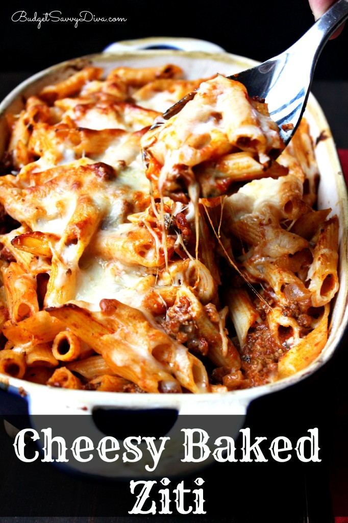 Cheesy Baked Ziti Recipe , gluten free baked ziti, Italian baked ziti