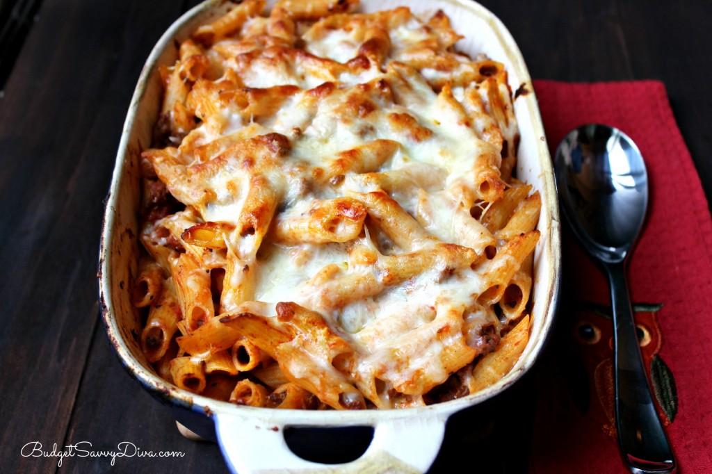 Cheesy Baked Ziti Recipe , cheese , italian recipes