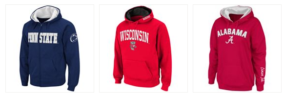 Check out this hot deal on Men's College Hoodies at Kohl's! They are on sale for $21.99 (reg. $55), but you can use code CYBERWEEK at checkout and