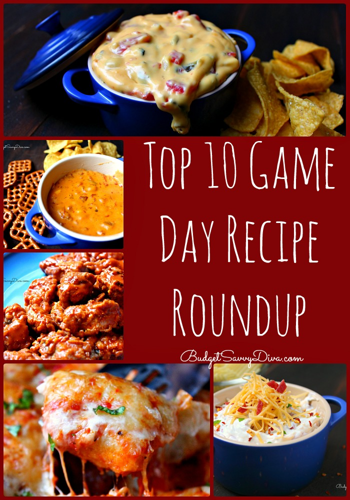 Top 10 Game Day Recipe Roundup