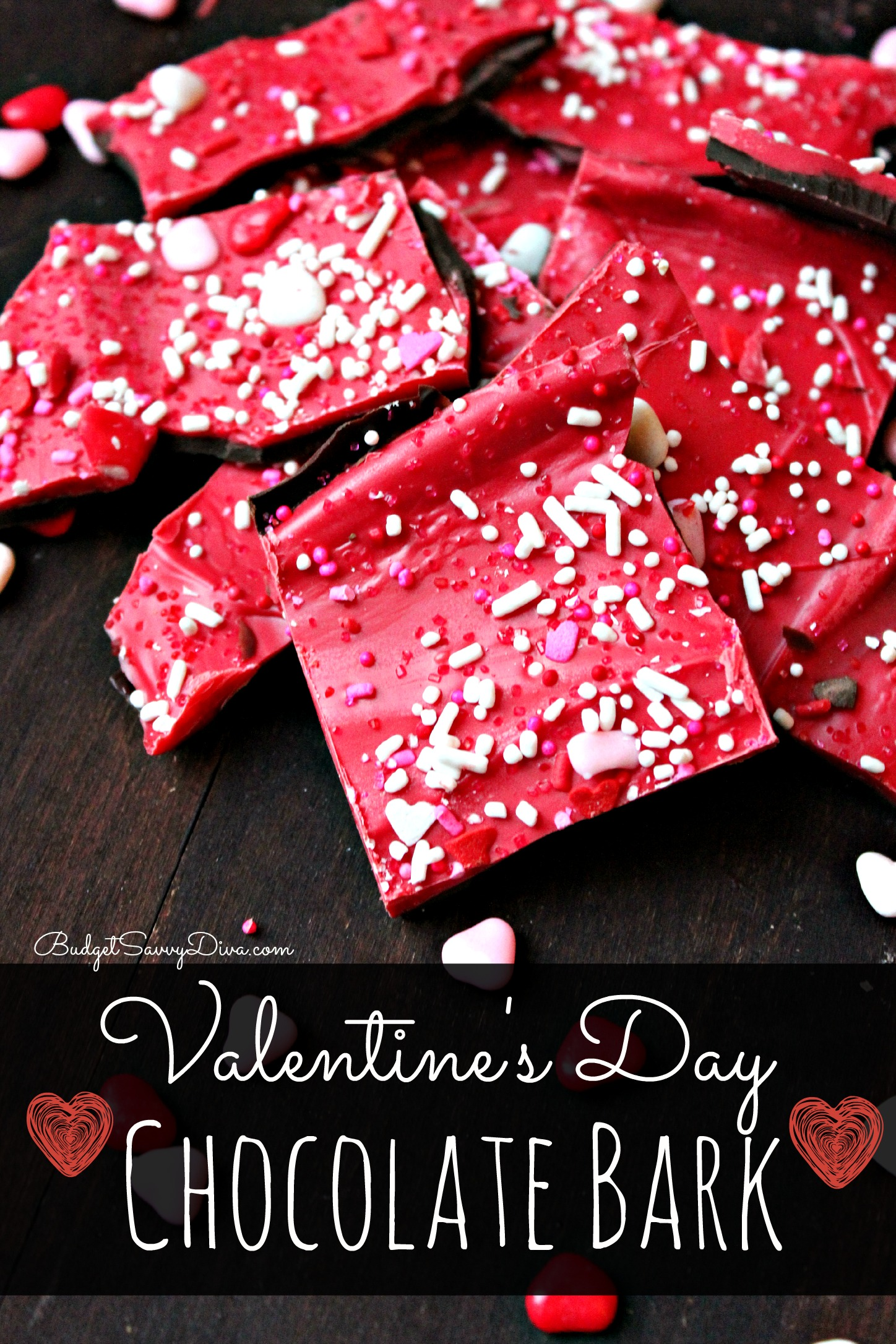 Valentine S Day Chocolate Bark Recipe Budget Savvy Diva