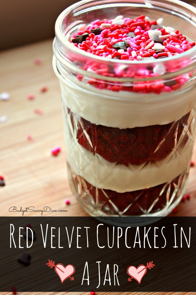 Red Velvet Nutella Cupcake Recipe Red Velvet Cupcakes in a Jar