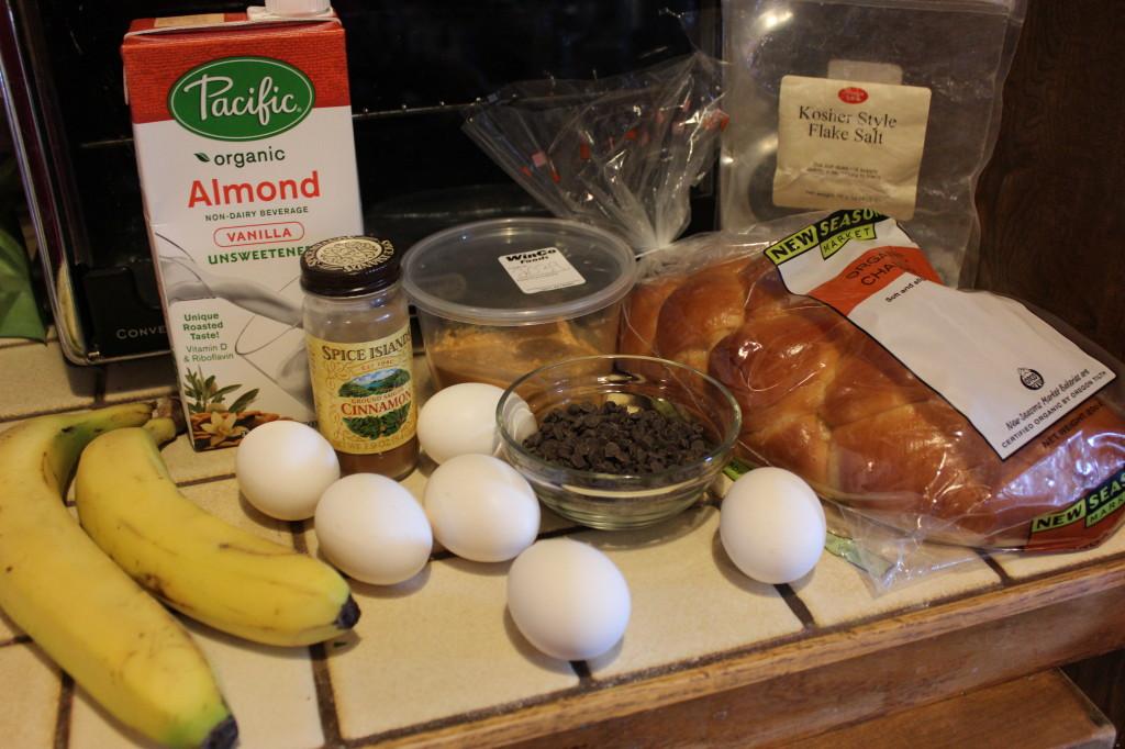 Chocolate, Peanut Butter, Banana French Toast Casserole Recipe