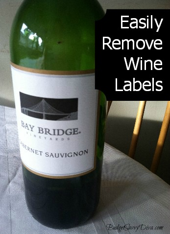 how to easily remove labels from wine bottles budget savvy diva. Black Bedroom Furniture Sets. Home Design Ideas