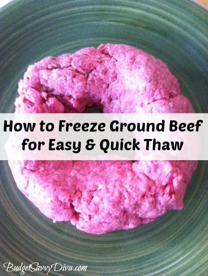 How to Freeze Ground Beef for Quicker Thaw