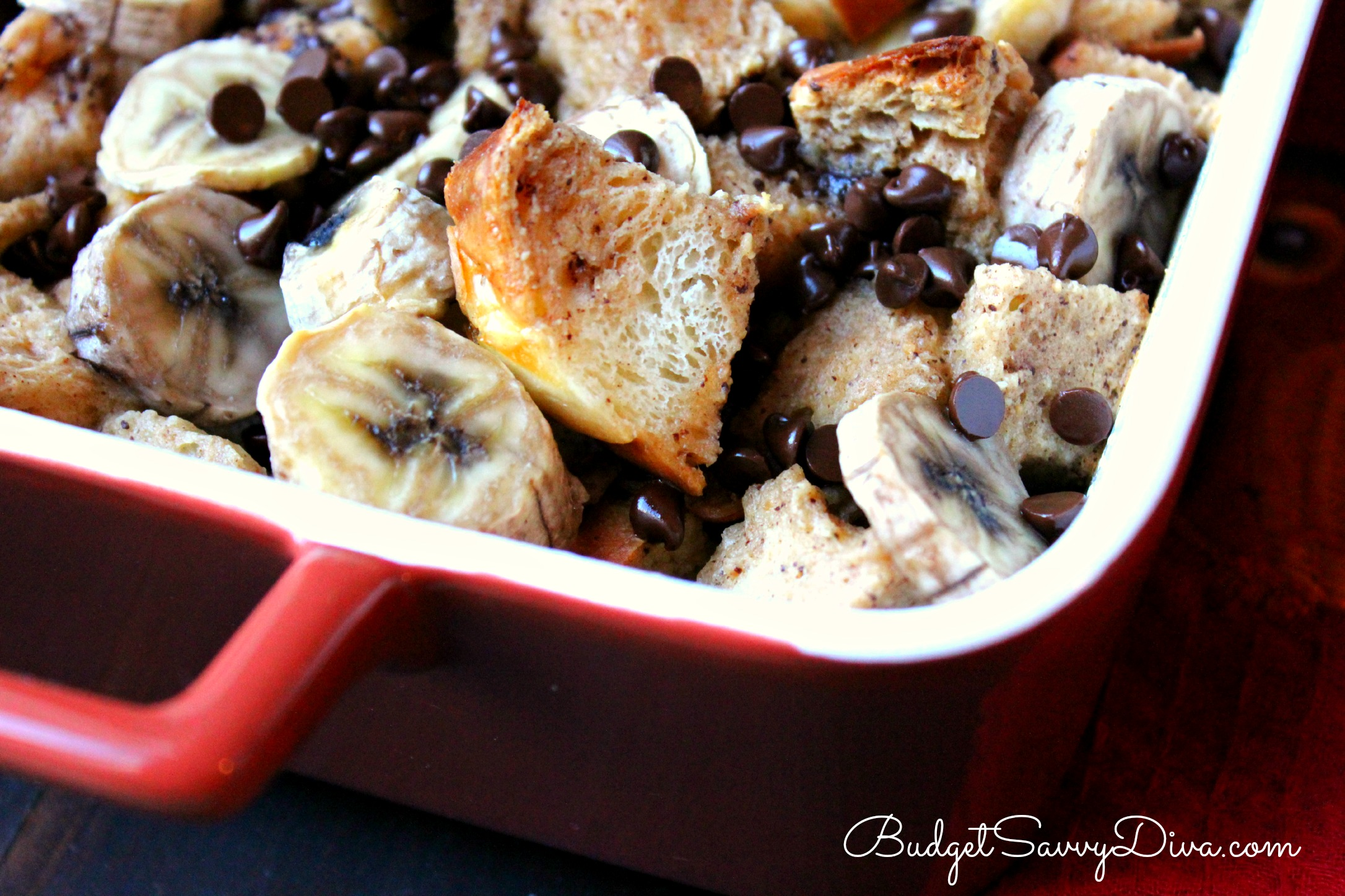 Chocolate, Peanut Butter, Banana French Toast Casserole Recipe