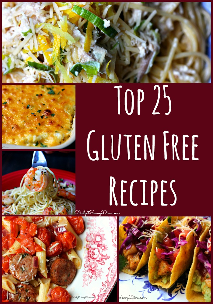 top 25 gluten free recipes budget savvy diva