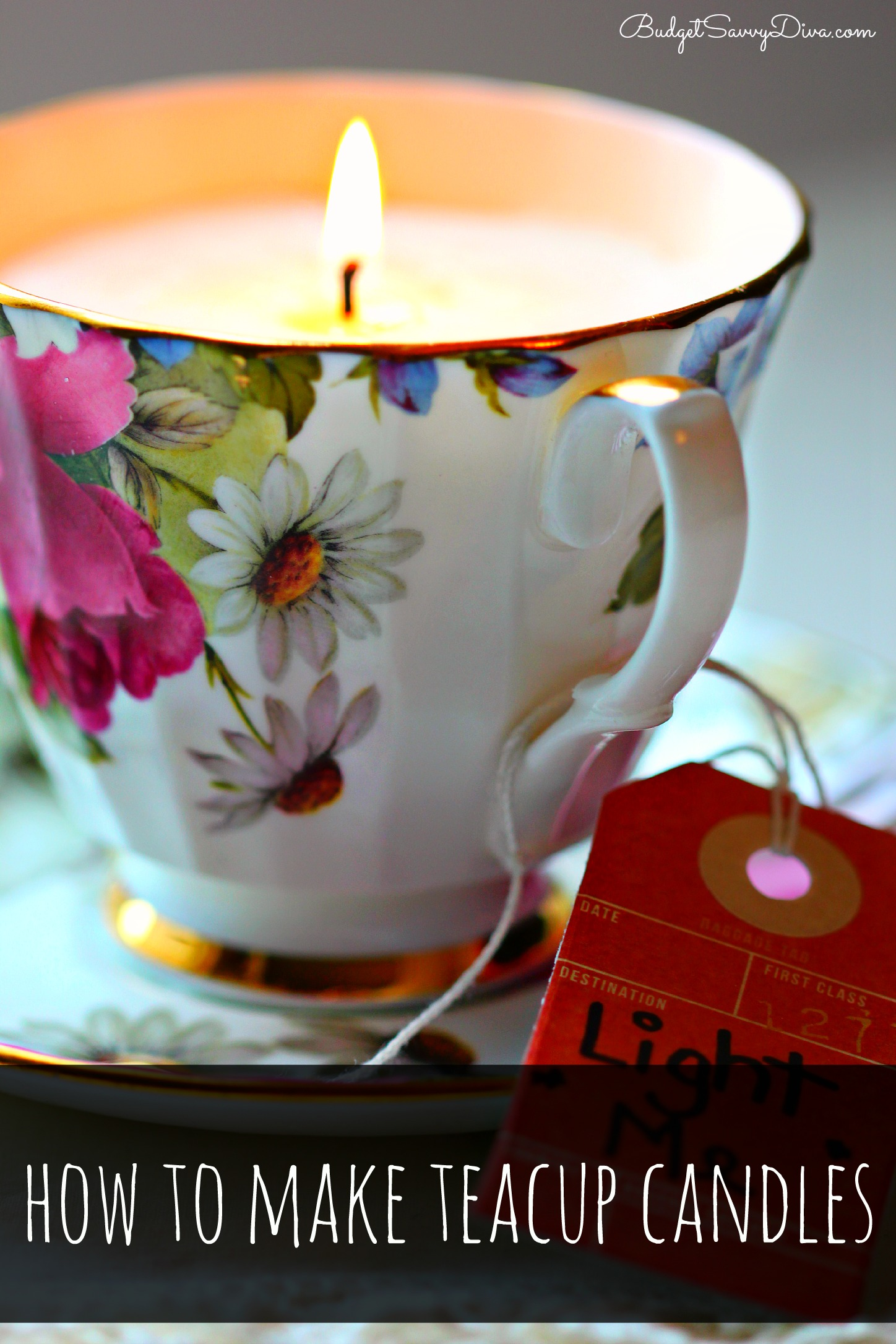 How To Make Teacup Candles Budget Savvy Diva