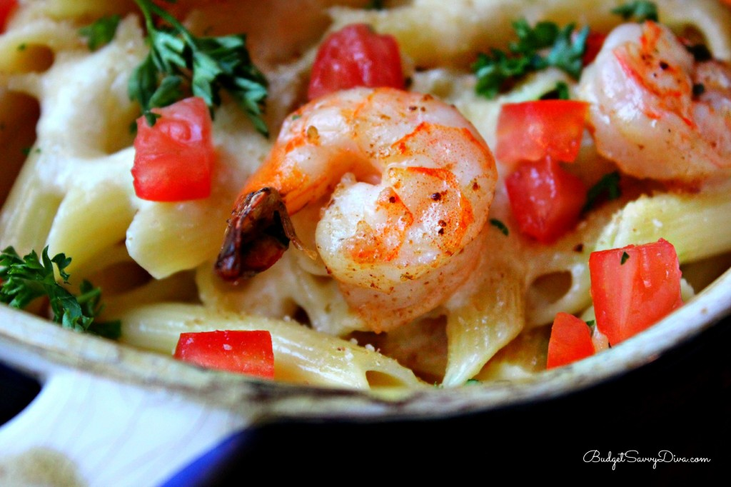 Parmesan shrimp scampi pasta recipe