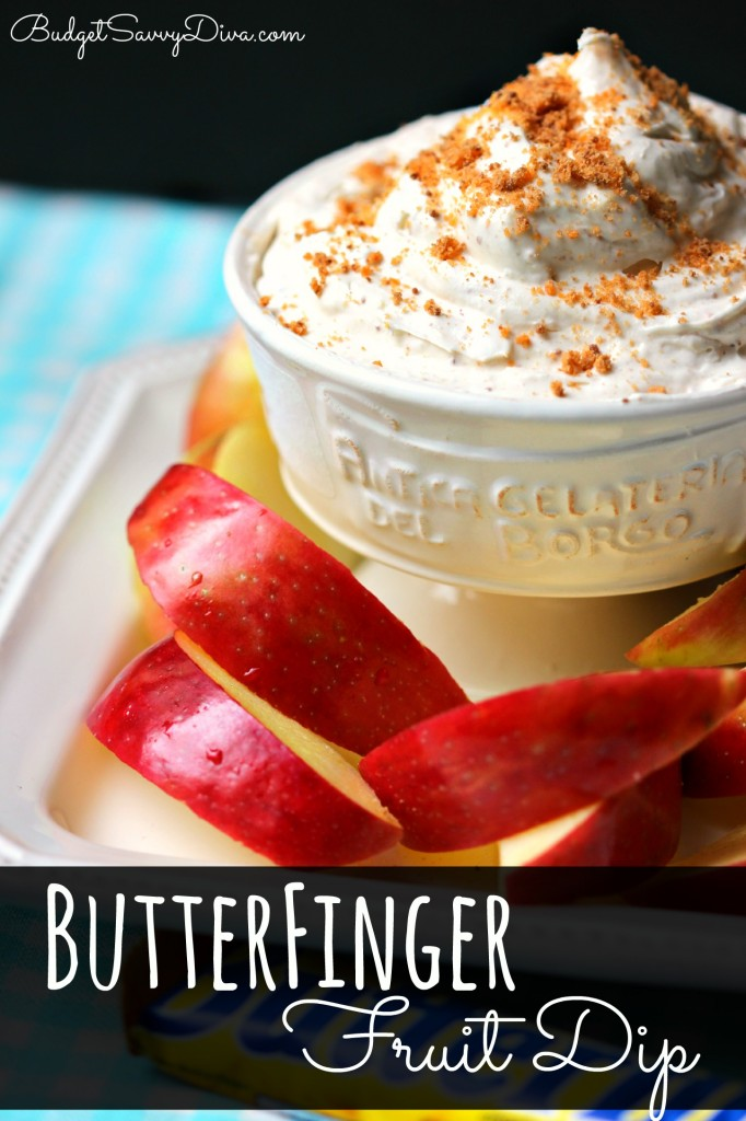 ButterFinger Fruit Dip Recipe , butterfingers recipes, fruit dips made with cream cheese