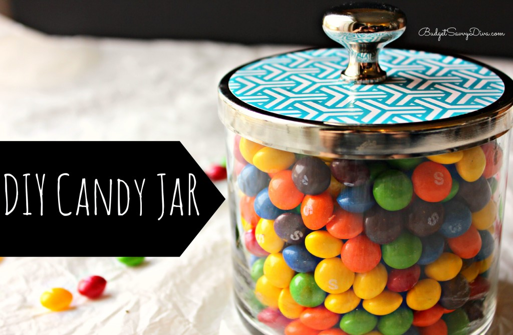 DIY Candy Jar by Upcycle Bath & Body Works Jars