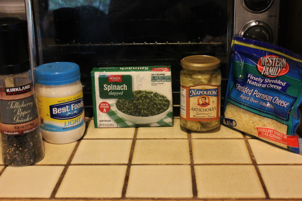 Spinach and Artichoke Dip ingredients, how to make artichoke dip
