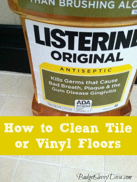 How To Clean Tile Or Vinyl Floors Budget Savvy Diva