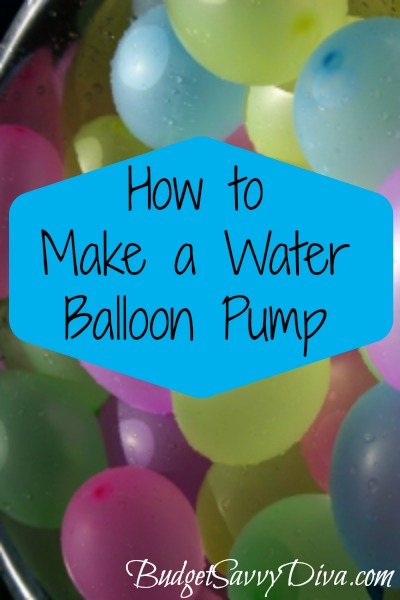 how to make a water balloon pump