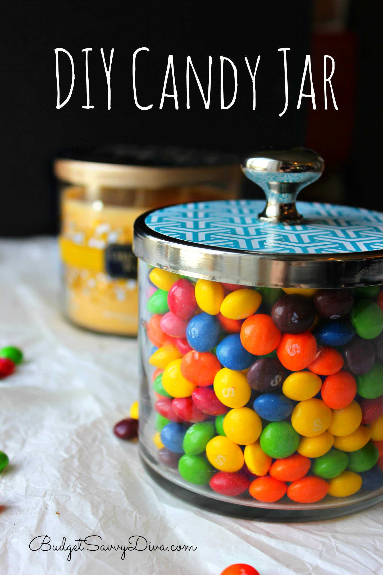 Diy Candy Jar By Upcycling Bath Amp Body Works Jars Budget