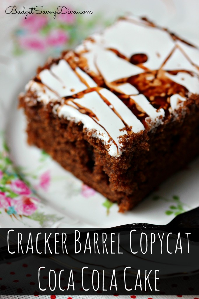 How To Make Coca Cola Cake From Cracker Barrel