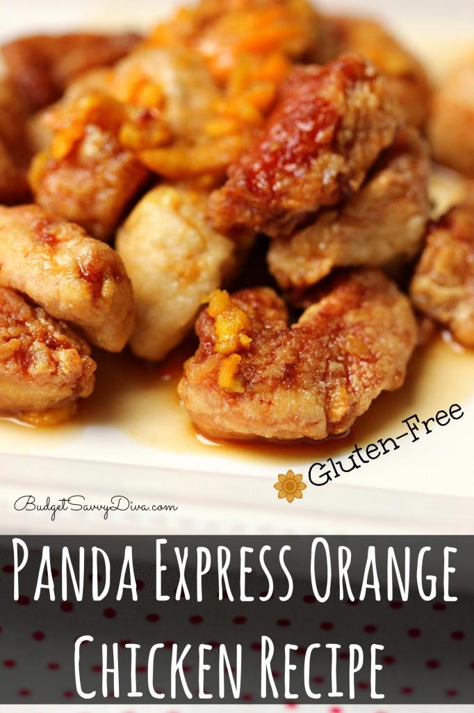 Panda Express Orange Chicken Recipe - Gluten Free