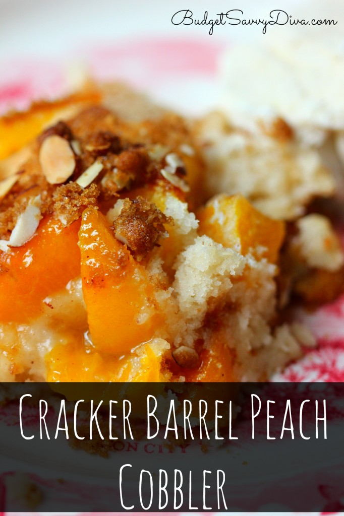 Cracker Barrel Peach Cobbler Recipe  from Budget Savvy Diva