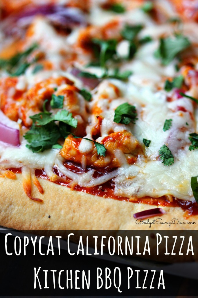 Copycat California Pizza Kitchen BBQ Pizza