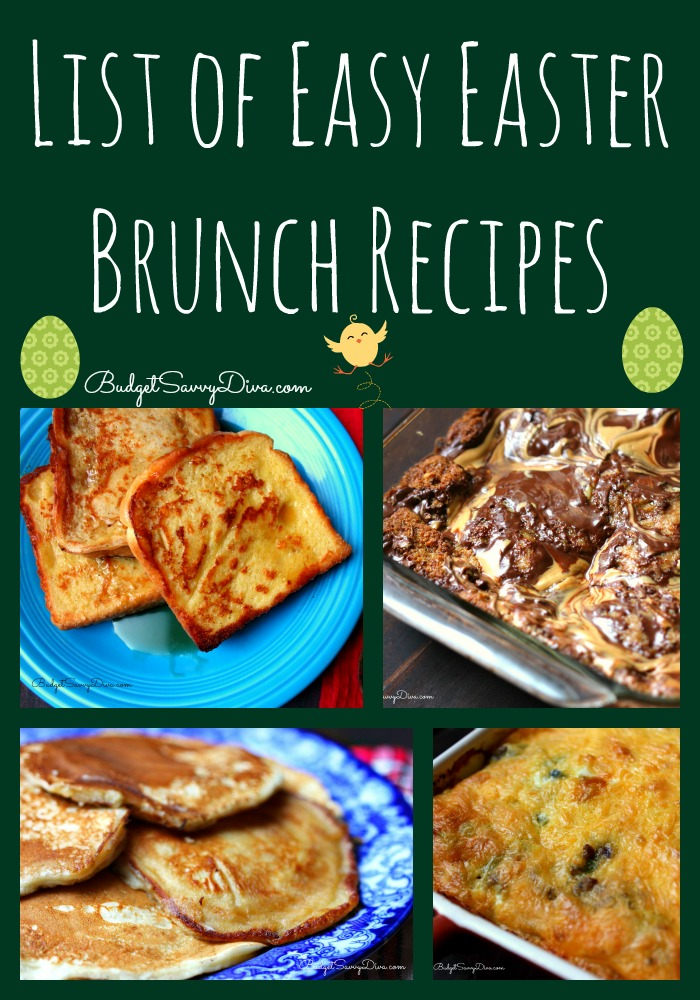 list of easy easter brunch recipes budget savvy diva
