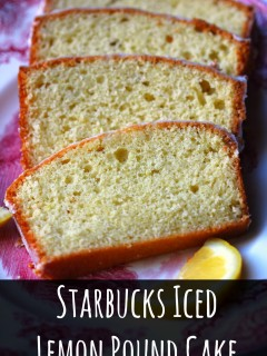 Starbucks Iced Lemon Pound Cake