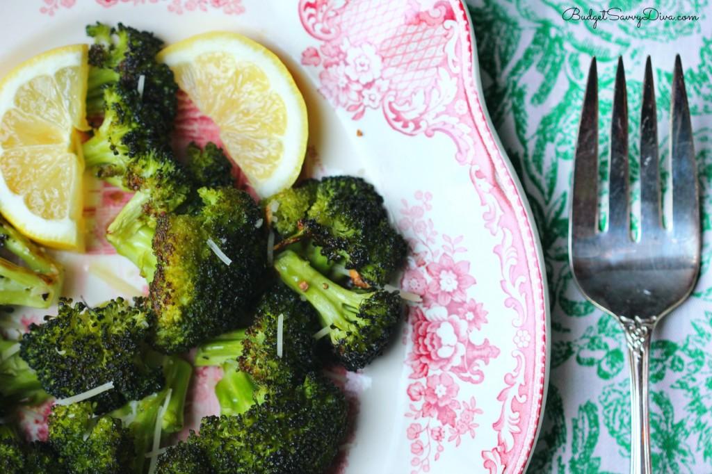 Roasted Garlic Lemon Parmesan Broccoli Recipe | Budget ...