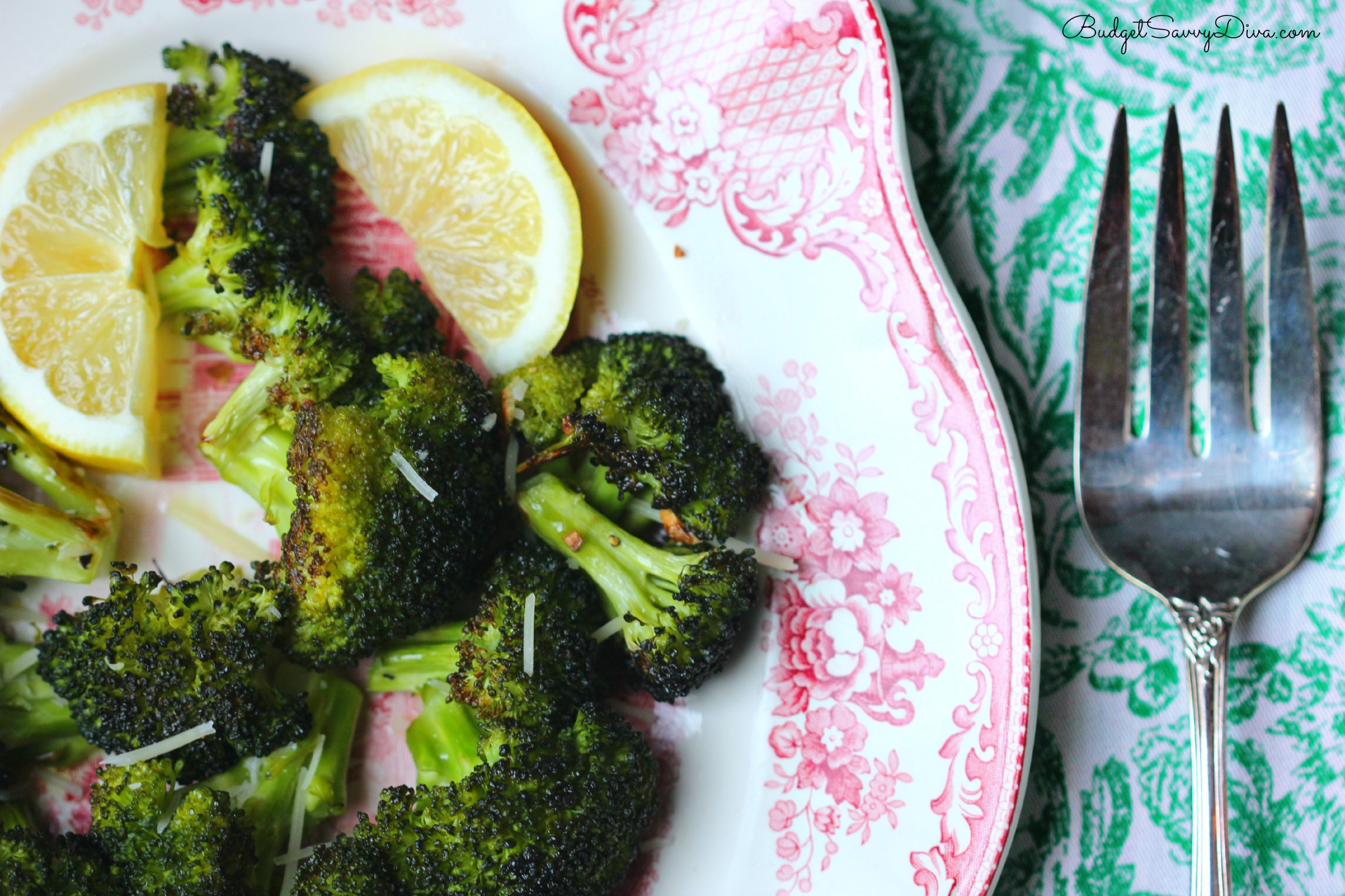 Roasted Garlic Lemon Parmesan Broccoli Recipe | Budget ...