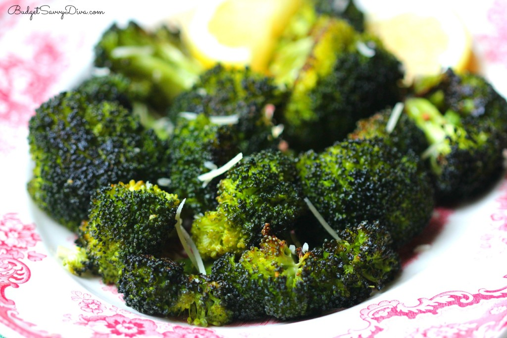 Roasted Garlic Lemon Parmesan Broccoli Recipe