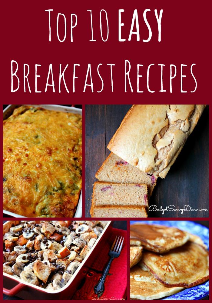 Top 10 Easy Breakfast Recipes