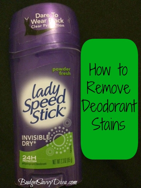 How to remove deodorant stains budget savvy diva for Remove deodorant stains from black shirt