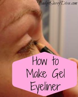 How to Make Gel Eyeliner | Budget Savvy Diva