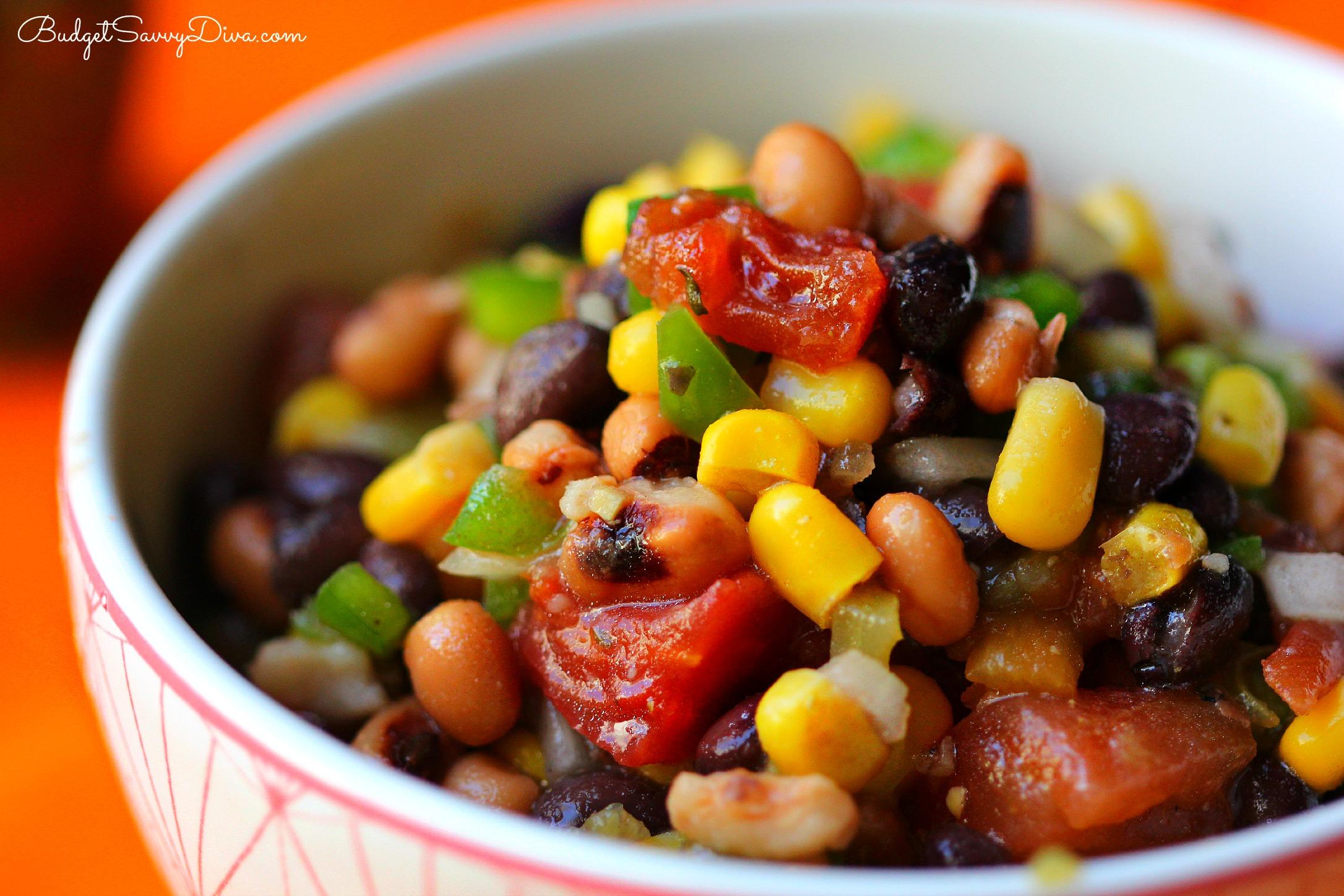Spicy Bean Salsa Recipe | Budget Savvy Diva