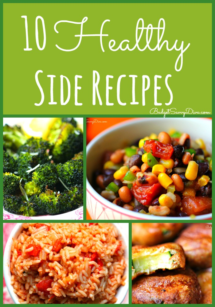 10 Healthy Side Recipes Roundup