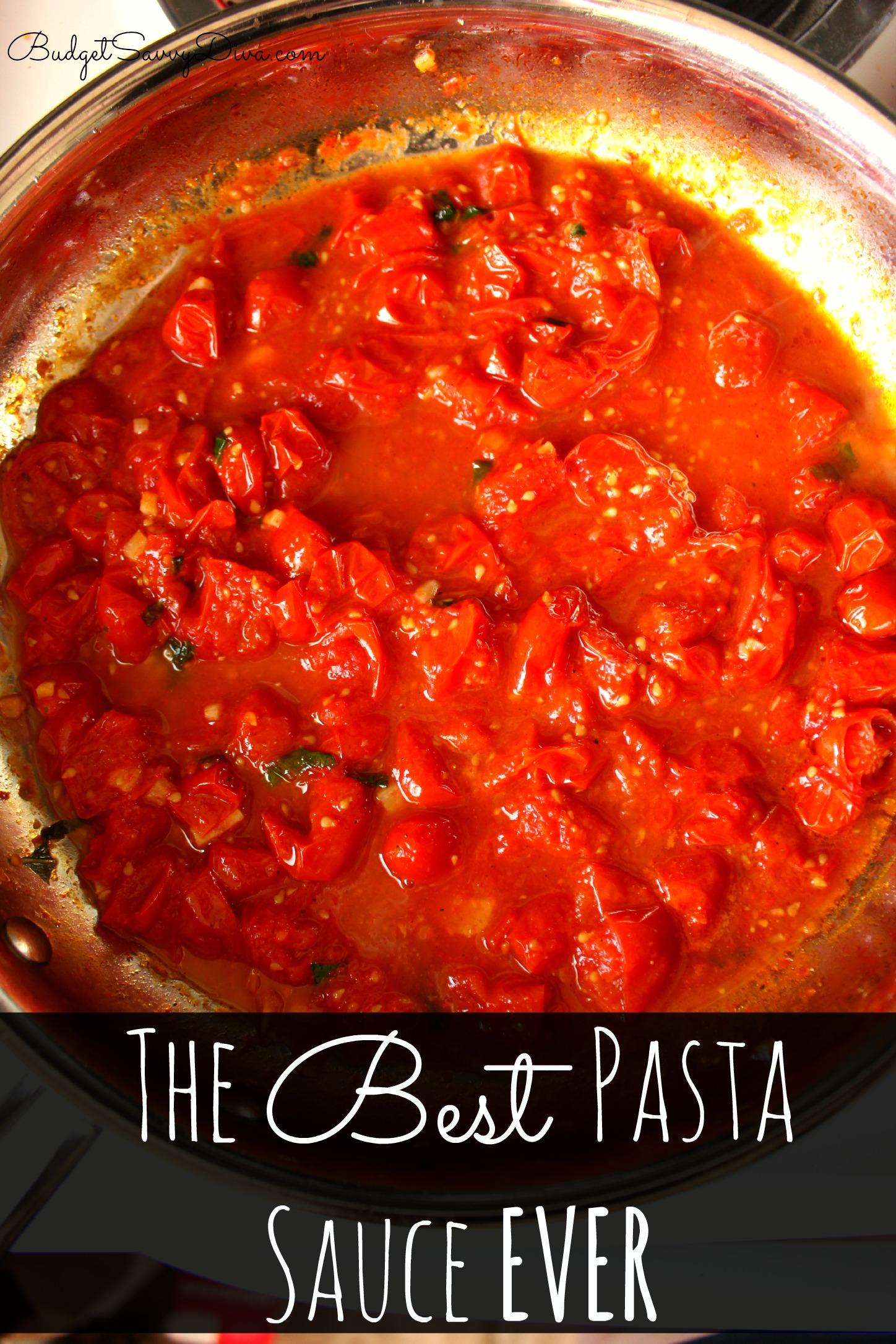 The Best Pasta Sauce Ever Recipe | Budget Savvy Diva